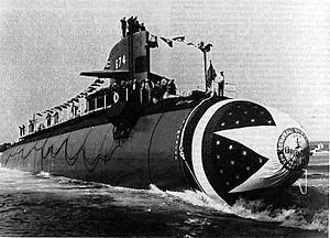 USS Trepang Launch
