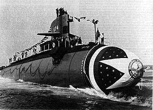 USS Trepang Launch